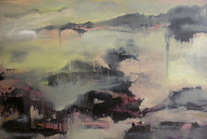 雨山1 RAINING MOUNTAIN 1 100X150CM 布面油画 OIL ON CANVAS 2005