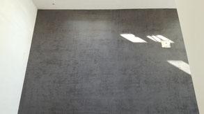 Anhydrit schwarz geschliffen und matt versiegelt
