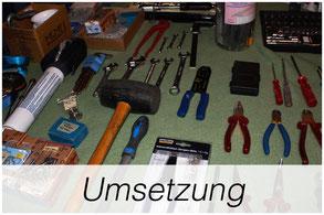 Werkzeug auf Tisch - geordnet