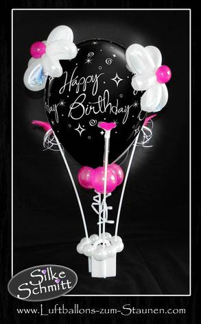 Heißluftballon Geldgeschenk Geschenk Geschenkballon Ballon Luftballon Geld Geburtstag Happy Birthday verschicken