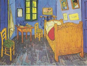 ヴィンセント・ヴァン・ゴッホ「アルルの寝室」、1889年、オルセー美術館所蔵