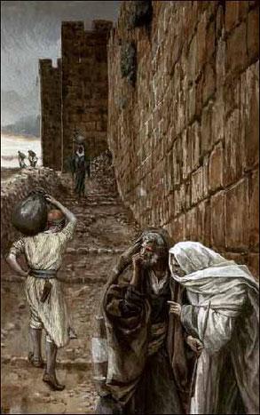 ジェームズ・ティソ「水がめを運ぶ男」、1886-96年、ブルックリン美術館