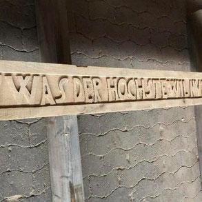 Restaurationen - Spruchbalken - Zimmerei Holzbau Wolfgang Brandt in Bodenwerder für Holzkonstruktionen