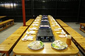 BBQ場施設内の紹介写真