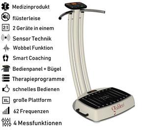 Vibrationsplatte Galileo Med Fit Sensor, Vibrationstrainer, Galileo Training, gebraucht, kaufen, Preise, Preis, Test, Vertrieb: www.kaiserpower.com