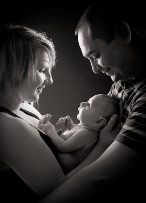 Florence , Geoffroy et leur bébé