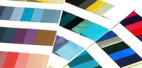 Farbkarten mit der kalten Farbfamilie