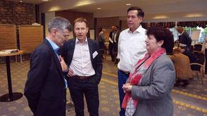 Hans A. Wüthrich, Wolfgang Grilz, Herbert Salzmann und Brigitta Hager beim Symposion Next Leadership Generation
