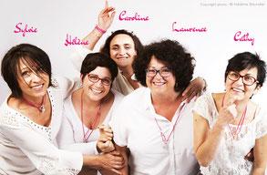 L'Association ainsi soie filles : Laurence, Sylvie, Cathy et Carol!ne
