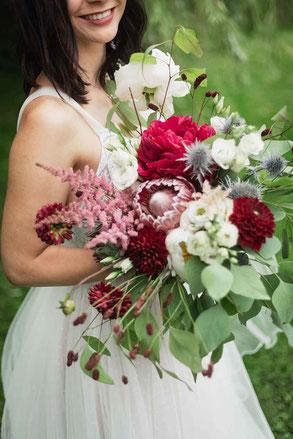 Brautstrauß Kopflegenden
