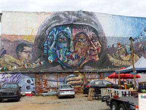 Graffiti au message engagé dans le quartier des pêcheurs