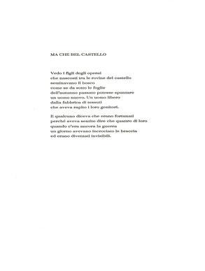 pagina di testo composta e stampata tipograficamente a mano