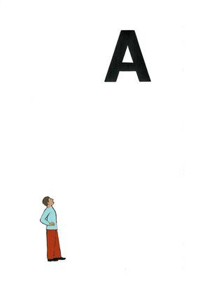 pagina con stampa tipografica e opera originale