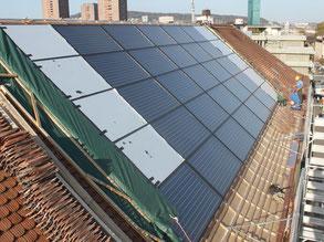 Neue Wärmeversorgung mit Gas und Solar