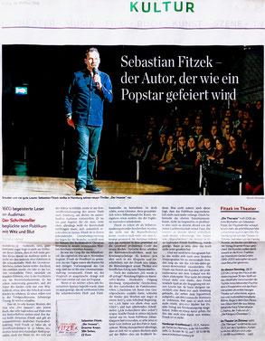 Theater im Zimmer feat. Sebastian Fitzek - Presseartikel im Hamburger Abendblatt