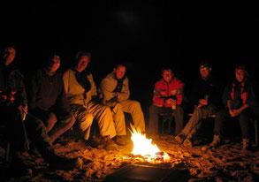 Lagerfeuer im Erg Chebbi, Allrad-Reise Marokko