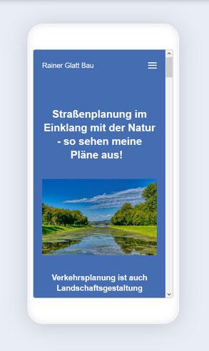 Mobile Version RainerGlattBau.com