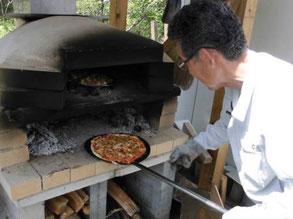 石釜焼きピザ作り体験