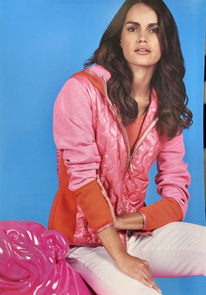 Sweatshirt-Jacke pink-orange