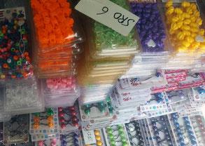 Perles dans les boutiques d'Albina au Surinam
