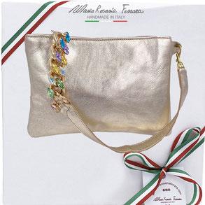 borsa in pelle modello viola by Mariarosaria Ferrara ischia