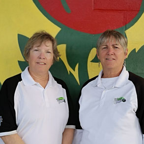 Photo of 2019 women's pairs champions Sue Duransky and Bettyann Rankin