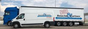 Bild: Van & Sattelzug mit Auflieger der Bouché & Partner GmbH