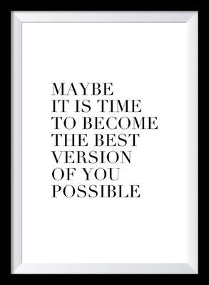 Typografie Poster, Typografie Print, Motivation, the best version