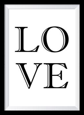 Typografie Poster Liebe, Love