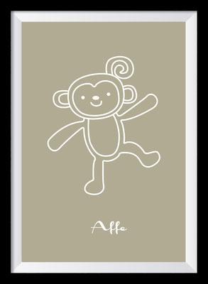 Illustration - Affe