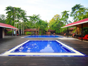 Kinabatangan Lodge in Sukau in Sabah op Borneo