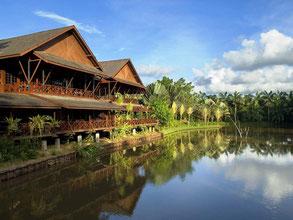 Nature resort in Sepilok in Sabah op Borneo