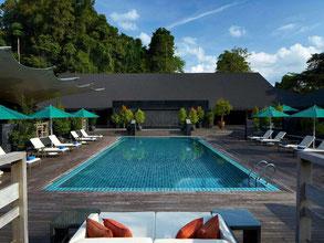 Marriott resort in het Mulu National Park in Sarawak op Borneo