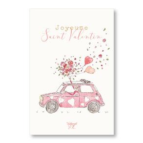 tendrement fé illustration papeterie bohème carte mini austin saint valentin amour aquarelle poétique