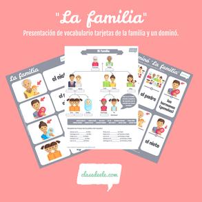 Vocabulario de la familia clase de español