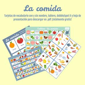 Vocabulario de la comida para la clase de español