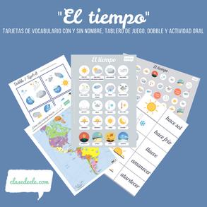 Vocabulario del tiempo clase de español