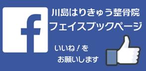 江別市野幌の川島治療院は「川島はりきゅう整骨院」から名前を変更しました。Facebookページもぜひごらんください。