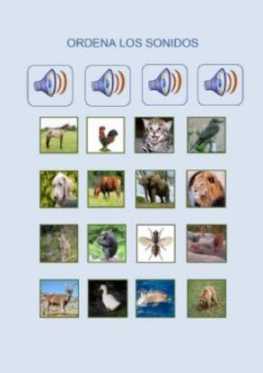 COLOCA EL ANIMAL ENCIMA DE SU SONIDO (Memoria auditiva)