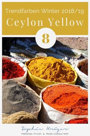 Ceylon Yellow - warme Trendfarbe für den Herbsttyp und Frühlingstyp