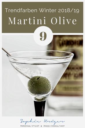 Martini Olive - warme Trendfarbe für den Herbsttyp und Frühlingstyp