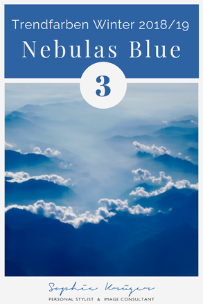Nebulas Blue -  kalte Trendfarbe für den Sommertyp oder Wintertyp