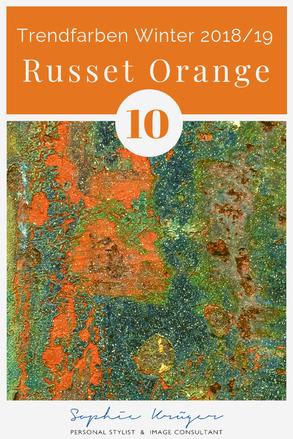 Russet Orange - warme Trendfarbe für den Herbsttyp und Frühlingstyp
