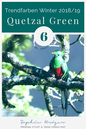 Quetzal Green -  kalte Trendfarbe für den Sommertyp oder Wintertyp