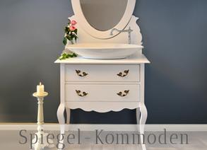 Spiegelkommoden - mit Waschbecken als Waschtisch