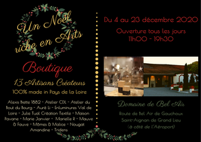 Boutique de Noël au Domaine de Bel Air, 13 artisans créateurs locaux