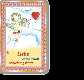Orakelkarte 8 Liebe, Leidenschaft, Freundschaft