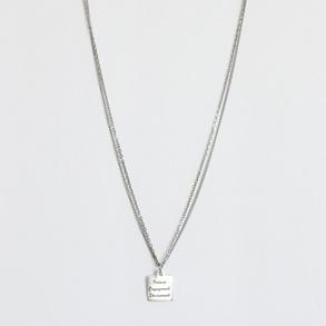 """Faire la différence"" minimalist necklace"