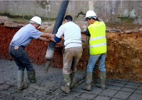 Construction radier