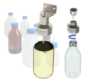 Open bottle sampling, SBA sample bottle adapter, screw type liquid sampling